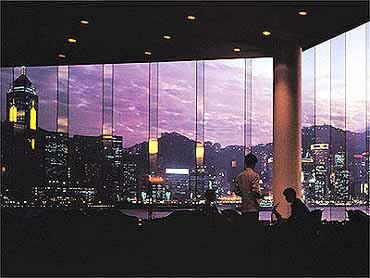 Dining at the Hotel Inter-Continental of Hong Kong